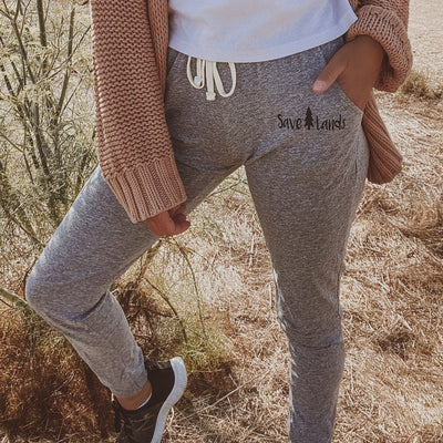Grey Jersey Joggers 64JTTX - OXFORD Lands S