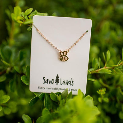 Gold Bee Necklace Jewelry Lands