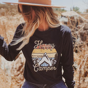 Mountain Happy Camper Long Sleeve 2400 Lands Black S