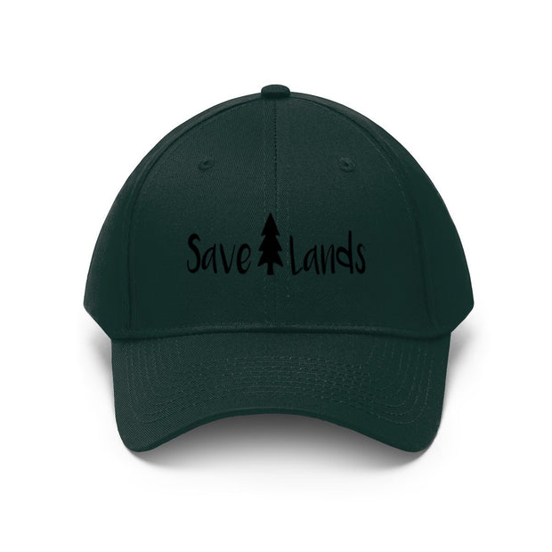Save Lands Modern Hat Hats Printify Forest Green One size