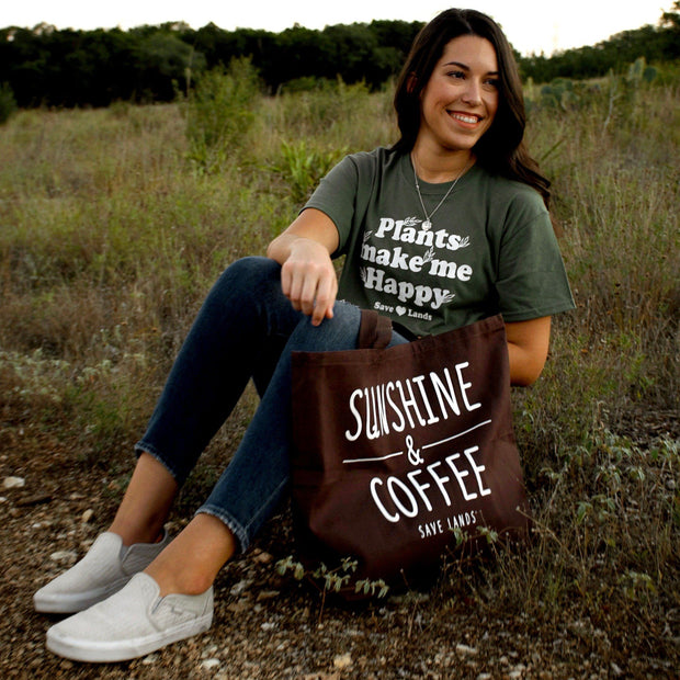 Sunshine & Coffee Tote Bag Q600 Lands