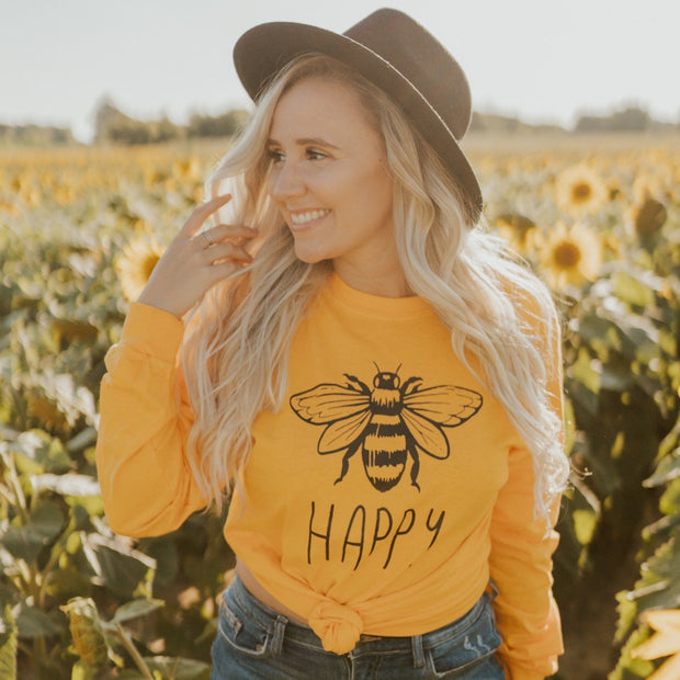Bee Happy Long Sleeve 2400 Lands Gold S