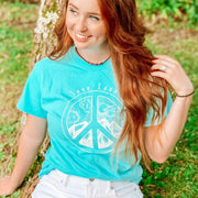 Mountain Peace Sign Tee 5000 Lands S Lagoon