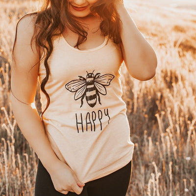 Bee Happy Tank 1533 Lands S Daisy