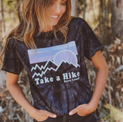 Take a Hike Black Tie Dye Tee 1000 BLACK SPIDER Lands