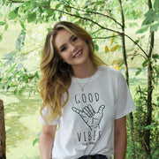 Shaka Good Vibes Tee 5000 Lands White S