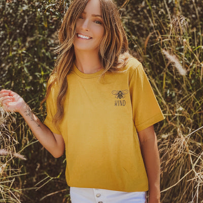 Bee Kind Pocket Tee 3001 Lands