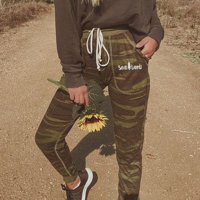 Lightweight Green Camo Joggers 2910 - CAMO Lands S