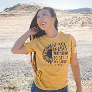 Be The Change Sunflower Mustard Tee 3001 Lands