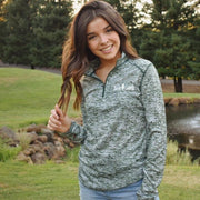 Save Lands White Badge Forest Quarter Zip 4193-Forest Lands