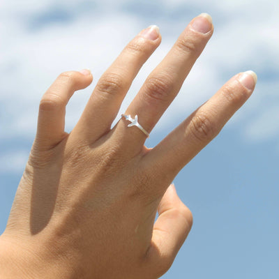 Airplane Ring Jewelry Lands