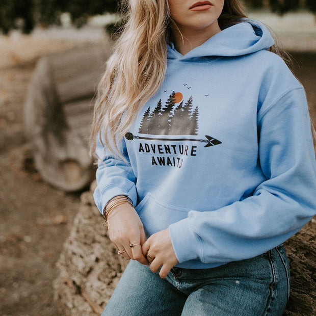 Adventure Awaits Hoodie Hoodie Lands
