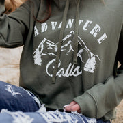 Adventure Calls Crop Top Hoodie Hoodie Lands