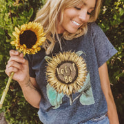Let it Bee Sunflower Tee T-Shirt Printify