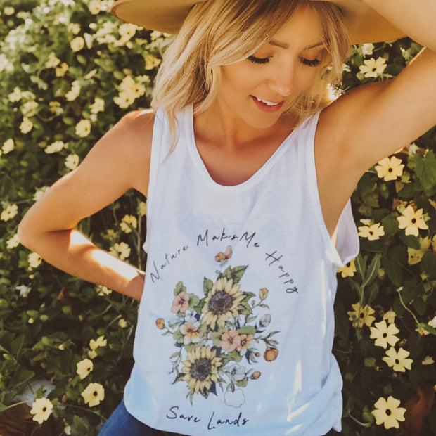 Nature Makes Me Happy Tank Tank Top Printify