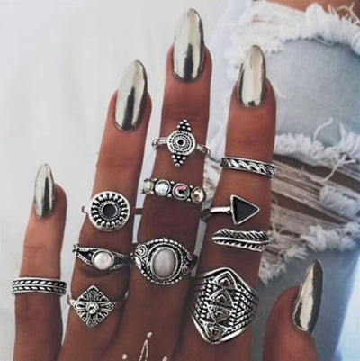 Aztec Stacking Ring Set Jewelry Lands