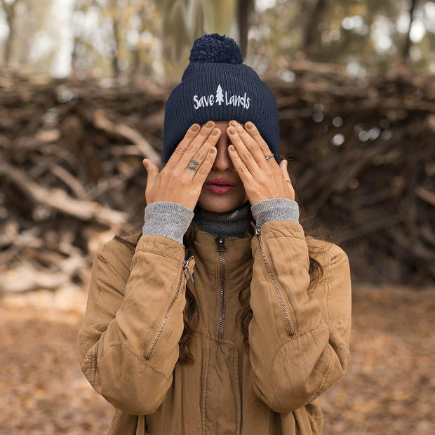 Save Lands Beanie Hats Printify True Navy One size