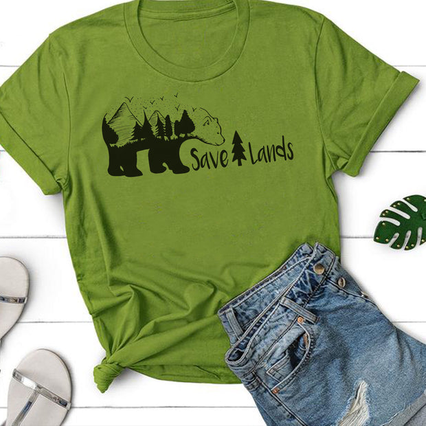Tree Bear Tee T-Shirt Printify Kiwi S