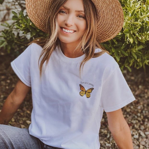 Save Lands Butterfly Pocket Tee 5000 Lands