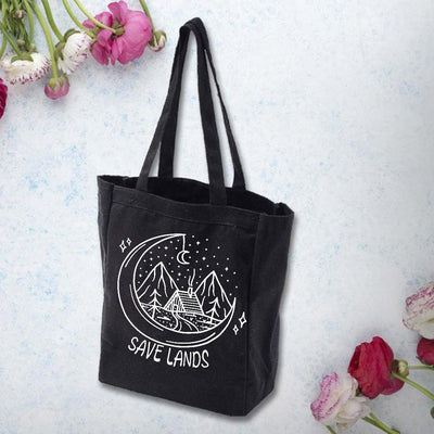 Save Lands Cabin Tote Bag Q600 Lands