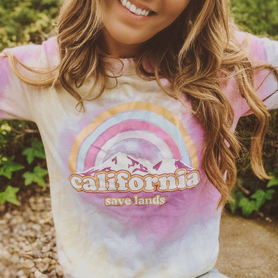 California Cotton Candy Tie Dye Long Sleeve Tie Dye Lands S
