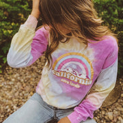 California Cotton Candy Tie Dye Long Sleeve Tie Dye Lands