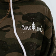 Simple White Logo Camo Hoodie AFX90UN Lands