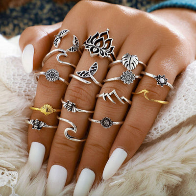 Elements Stacking Ring Set Jewelry Lands