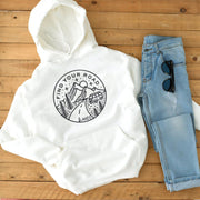 Lands Find Your Road Hoodie Hoodie Printify White L