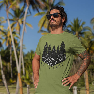 Men's Save The Pines Tee T-Shirt Printify Kiwi S