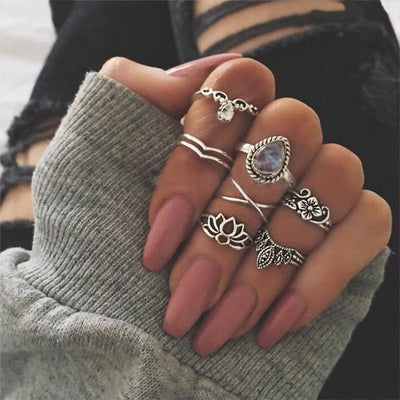 Flower Child Stacking Ring Set Jewelry Lands