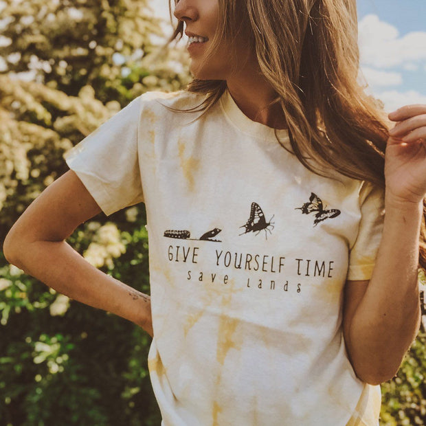 Give Yourself Time Dandelion Tie Dye Tee Tie Dye Lands S