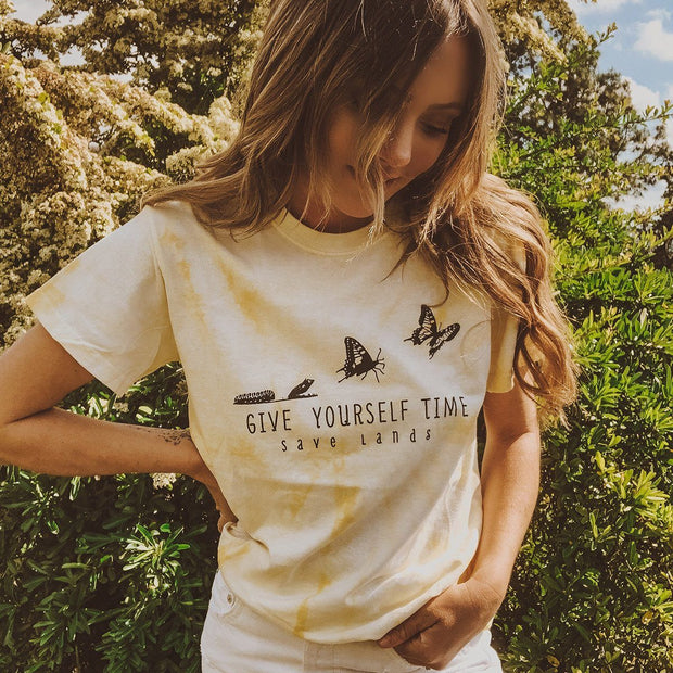Give Yourself Time Dandelion Tie Dye Tee Tie Dye Lands