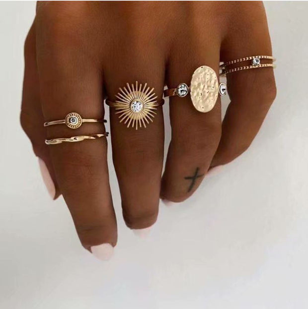 Gold Burst Stacking Ring Set Jewelry Lands