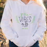 Green Vibes Only Hoodie 18500 Lands White L