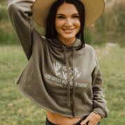 Grow Through Crop Top Hoodie 7502 Lands
