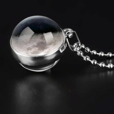 First Quarter Moon Necklace Jewelry Lands
