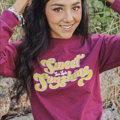 Sweet Sunshine Long Sleeve 2400 Lands Maroon S