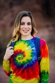Simple White Logo Moondance Tie Dye Long Sleeve 2000 - MOONDANCE Lands