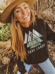 Save Lands Triangle Hoodie Hoodie Printify