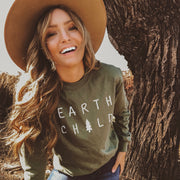 Earth Child Long Sleeve Tee Long-sleeve Printify Military Green L