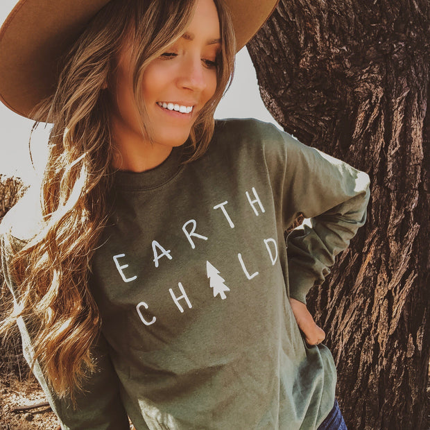 Earth Child Long Sleeve Tee Long-sleeve Printify