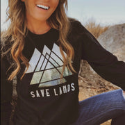 Triangle Tree Long Sleeve Tee Long-sleeve Printify Black L