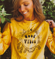 Good Vibes Only Long Sleeve Tee Long-sleeve Printify