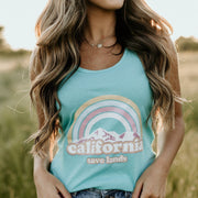 Cotton Candy Cali Tank 1533 Lands Tahiti Blue S