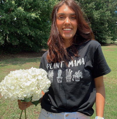 Plant Mama Tee 5000 Lands Black S