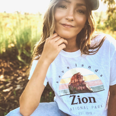 Zion Tee 5000 Lands White L