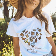 Beauty of Nature Tee 5000 Lands White L