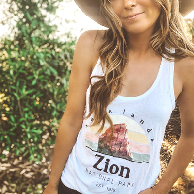 Zion Tank 1533 Lands White L