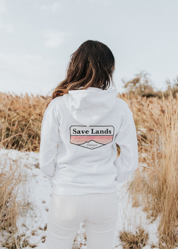Established 2020 Hoodie (Back Print) 18500 Lands